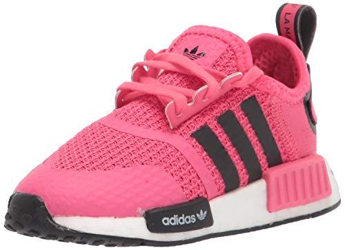 adidas Originals NMD_r1 Zapatillas elásticas para niños, rosa (Super rosa/negro/blanco.), 26 EU