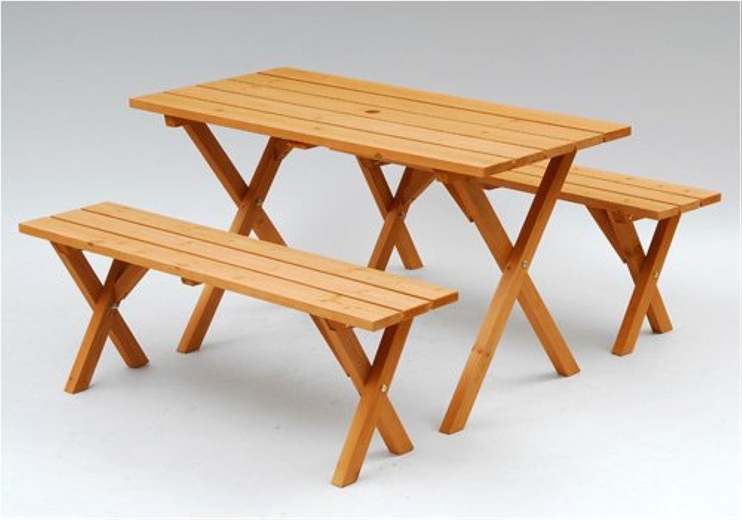 普通に幻滅するコークス山善(YAMAZEN) ガーデンマスター ピクニックガーデンテーブル&ベンチ 3点セット PTS-1205S