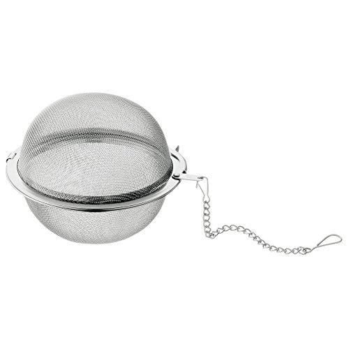 WMF Gourmet Gewürz-/ Teesieb, 7,5 cm, Tee-Ei mit Kette, Cromargan Edelstahl poliert, spülmaschinengeeignet, auch für Gewürze geeignet