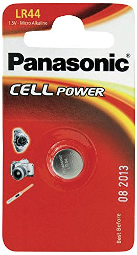 Panasonic LR44 - Pilas (Alcalino, 1.5 V, 105 mAh)