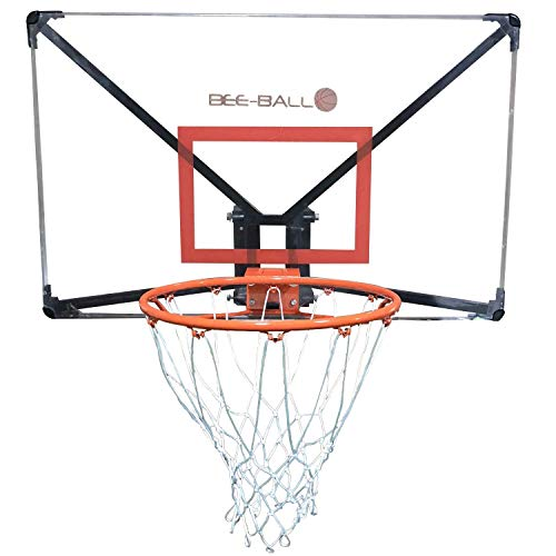 Photo of BEE-BALL ZY-022 Basketball Backboard. Polycarbonate and includes Full Sized Hoop with Wall Mounting Bracket and Fixing Kit