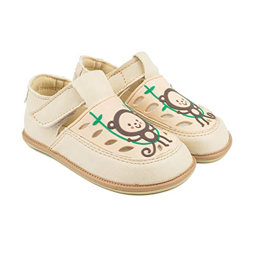 Magical Shoes Kinderschuhe | vegane Kinder Barfußschuhe | Sandalen für Mädchen & Jungen | Hausschuhe | minimalistische Schuhe | Laufschuhe | Kita/Outdoor | 25/155mm, | 006. GAGA - Beige - AFFE