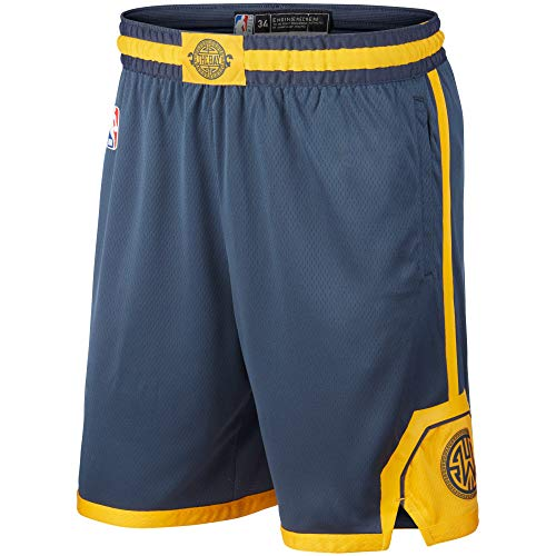 Golden State Warriors Youth 8-20 Official Swingman Performance Shorts (Youth - Large, Golden State Warriors Gray City Edition Shorts)