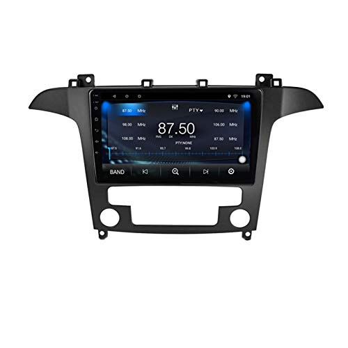 KCSAC Android 10 Car Radio Auto Estéreo Auto para Ford S-MAX S MAX 1 2006 2007 2008-2015 Navegación GPS DVD Multimedia Player (Color : No VAT for Europe)