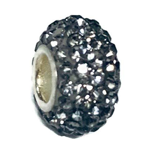 My Prime Gifts シルバーメッキチャームビーズスペーサー 誕生石カラー ほとんどのチャームブレスレットにフィット