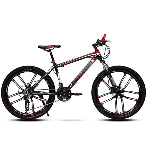 HUAQINEI Bicycle Mountain Bike 21/24 speed mountain bike, dual disc brakes, high carbon steel adult bicycle bicycle with adjustable seat,21 speed