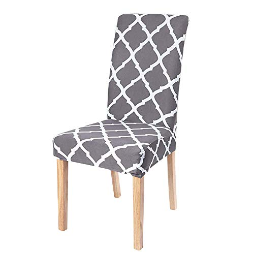 Dioxide Fundas para Sillas Pack de 4 Fundas Sillas Comedor, Fundas Elásticas Chair Covers Lavables Desmontables Cubiertas para Sillas Muy Fácil de Limpiar Duradera - Estilo Nórdico