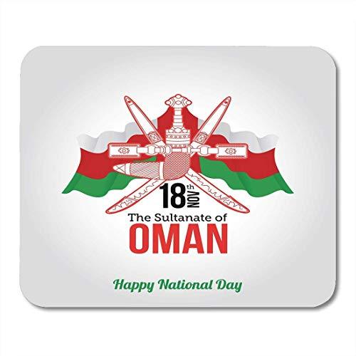 Mauspads Alte Flagge Oman Nationalfeiertag Feier des Sultanats Glücklicher 18. November Abstrakter Geburtsort Mauspad Für Notizbücher, Desktop-Computer Mausmatten, Büromaterial