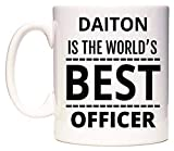 DAITON Is The World's BEST Officer Taza por WeDoMugs®
