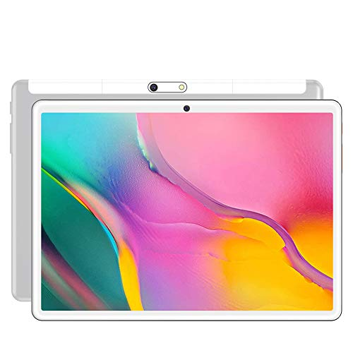 S10 Tablet, Android 8.0 Pie Tablet 10.1 inch,1280 * 800 HD IPS Screen,3G Phone Call Phablet PC,Quad-core/ Dual Cameras/HDMI/ Bluetooth/WiFi,portable entertainment (White)