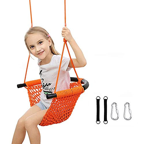 Kids Swing Seat Heavy Duty Rope Play Secure...