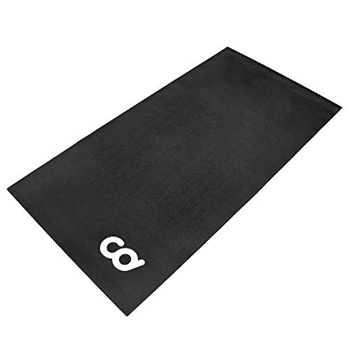 "CyclingDeal Exercise Fitness Mat - 3'x6' Soft - for Treadmill, Peloton Stationary Bike, Elliptical, Gym Equipment Waterproof Mat Use On Hardwood Floors and Carpet Protection (36"" x 72"")"