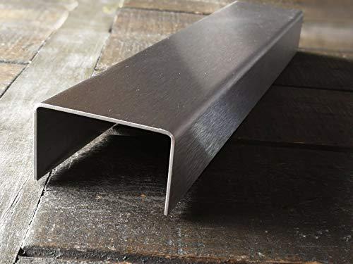 Abdeckprofil, 1500mm Edelstahl U-Profil a: 15x b: 40x c: 15 mm Schenkelinnenmaß aus Edelstahl k240 geschliffen 0,8 mm stark U Blech, Winkelblech,