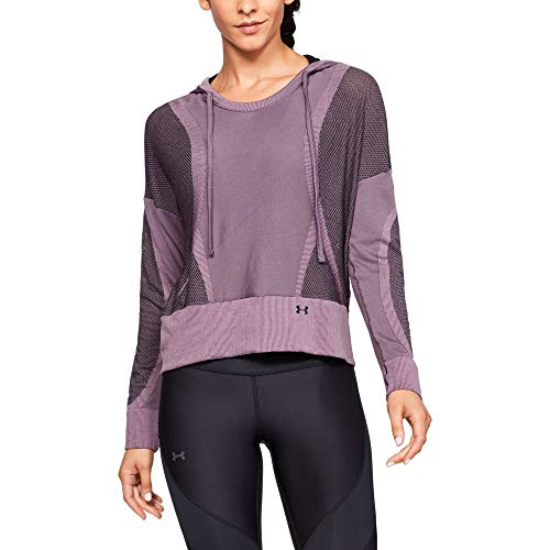 Under Armour UA Vanish Seamless Hoody Sweat à capuche Femme, Purple Prime / Black / Metallic Silver (521), L