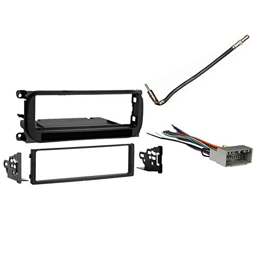 Compatible with Chrysler Town & Country 2002 2003 2004 2005 2006 2007 Single DIN Stereo Harness Radio Dash Kit