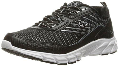 Fila Women's Forward 3 Running Shoe, Black/Metallic Silver, 9.5 M US