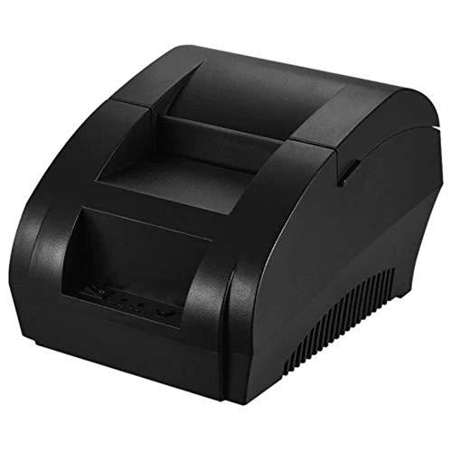 Bondrucker Bluetooth Thermodrucker Gastronomie Supermarkt Registrierkasse Fahrkartenautomat Small European Standard 100-240V - Schwarz
