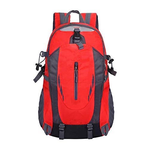 The Hot Rock 40L 6 Couleurs de Sports de Plein Air Alpinisme Sac à dos Camping Randonnée Trekking Sac à dos Voyage Imperméable Couverture de Vélo Sacs - Rouge - 30 - 40L