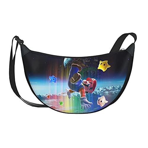 Starry Sky Super Mario Casual Crossbody Bag Moda Hombres Mujeres Niños Adolescentes Bolsa Al Aire Libre Entrenamiento Deportes Viajes Senderismo Ciclismo
