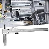 TLF-FF Alta precisión profesional dentro de la ranura del calibrador, doble garra de acero al carbono Interior Pie de rey, adecuado for medir el diámetro interior del agujero interior (9-200mm)