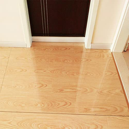 HWBB Teppich Wohnzimmer Grau Kinderzimmer Carpet Kleiner Klarer Teppich für Wohn-/Schlafzimmer, Schutzmatte für Bürostuhltisch, Ölbeständiges Verschleißfestes Transparentes Kunststoffpolster
