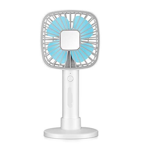SHAOXI Ventilador USB Ventilador eléctrico USB Mini 4 Aspa del Ventilador Carga de Mano Portátil Estudiante Niños Verano Ventilador para el Dormitorio de la Oficina en casa