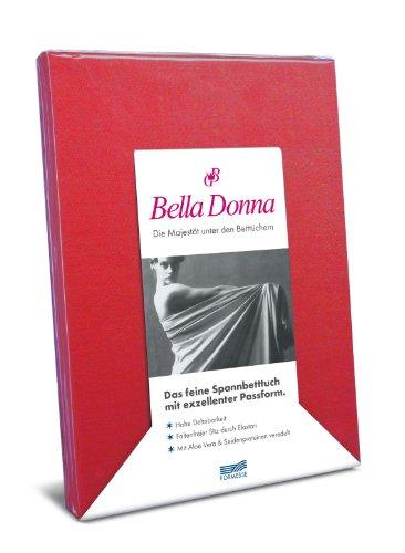 Hoeslaken Bella Donna Jersey voor matrassen & waterbed 140-160 x 200-220 cm in rood