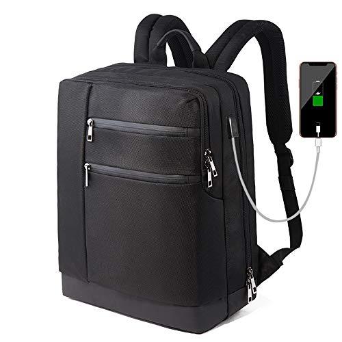 Hadishi Mochilas portátiles para Hombres y Mujeres Multifunción con Carga USB Mochila para portátil Mochilas de Viaje de Negocios para Hombres Mochila Escolar