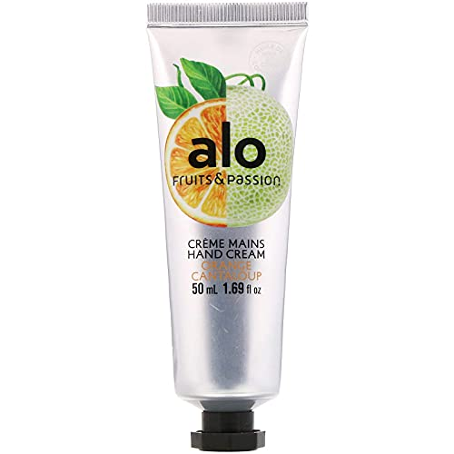 Fruits & Passion [ALO] Orange Cantaloupe Regenerating Hand Cream - Vegan-Friendly, Cruelty-Free Coconut Oil Hand Moisturizer, Travel Size Lotion for Dry Cracked Skin in Recyclable Tube
