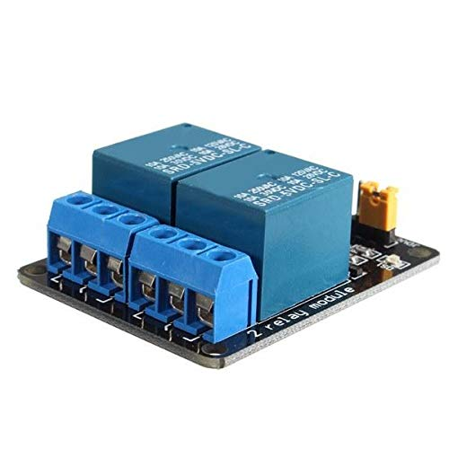 Ywzhushengmaoyi 5V 2 Channel Relay Module Control Board With Optocoupler Protection for Arduino - products that work with official Arduino boards 20pcs Electronics Module Parts