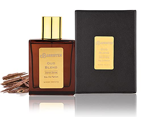 Barrister Oud Blend EDP Men Perfume   Long Lasting & Bold Smell   Woody Scent 100ml