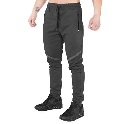 SMILODOX Slim Fit Herren Jogginghose 'Tech Pro'   Trainingshose für Sport Fitness Gym & Freizeit   Sporthose - Jogger Pants - Sweatpants Hosen - Freizeithose Lang, Farbe:Orange, Größe:XL