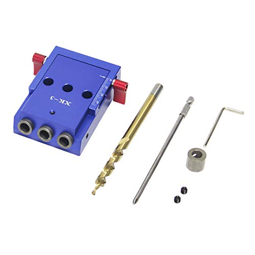 Wisamic Pocket Hole Jig Kit Holzverbindungssystem Bohrhilfe für Holzverbindungen und das Bohren von Taschenlöchern