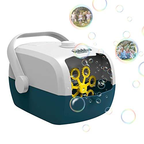 kupet Seifenblasenmaschine, Seifenblasen Maschine Tragbare mit Strom und Batterie verwendbar Automatische Schaummaschine für Außen Innen Party, Hochzeit, Geburtstagsfeier