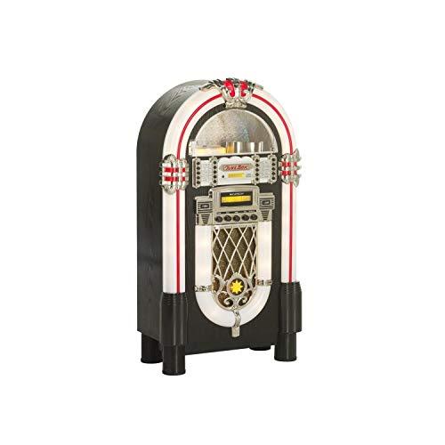 Ricatech RR950 Retro-Jukebox mit CD-Spieler, Bluetooth, UKW-Radio FM, drehbarem Licht mit 4 Einstellungen