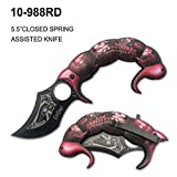 9' Elitedge Scorpion Assisted Opening Pocket Knife Stainless Steel Handle Blade