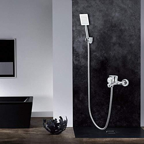 WEI-LUONG Baño Ducha Sistema, grifo de la ducha - moderno contemporáneo ducha del cromo Sistema de latón ValveSanitary Ware ducha ducha simple interruptor Set grifo de cobre Triple Interruptor ducha A