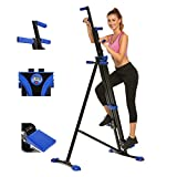 Aceshin Vertical Climber Steppers for Exercise Folding Climber Stepper Exercise Machine Whole Body Cardio Workout Training for Home Gym Exercise Bike for Home Body Trainer (Blue)