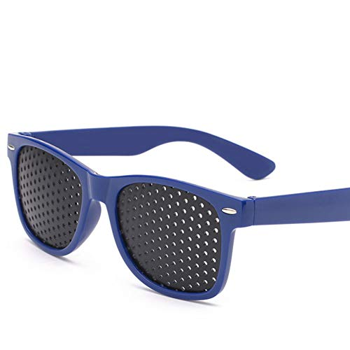 YIERJIU Sonnenbrillen Klassische Loch Sonnenbrille Männer Korrigiert Vision Sonnenbrille Frauen/Männer Retro Outdoor Oculos De Sol,Blue