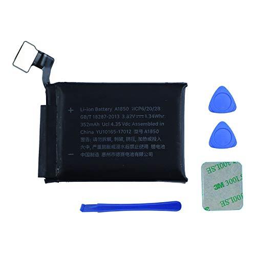 Swark Batería A1850 compatible con Apple Watch Series 3 42 mm GPS + Versión Cellular + Herramientas