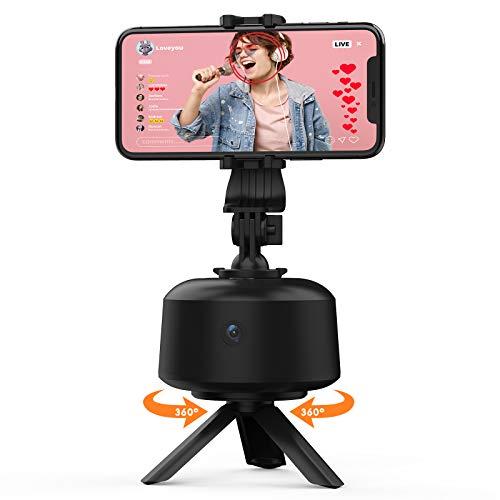 Smartphone Gimbal Stabilizer, 360° Automatische Gesichtsverfolgung Kamerahalterung mit Stativ Face Tracking Telefonhalter Handy Selfie Stick für Vlogging Videoaufnahme (Keine APP Erforderlich)