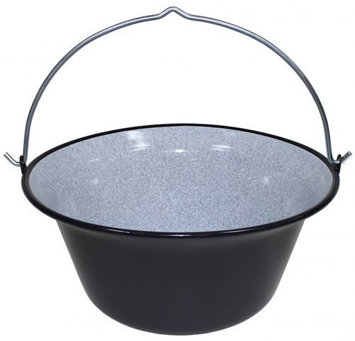 Ungar. stew pot kettle Hot Black Enamel 6 Litres