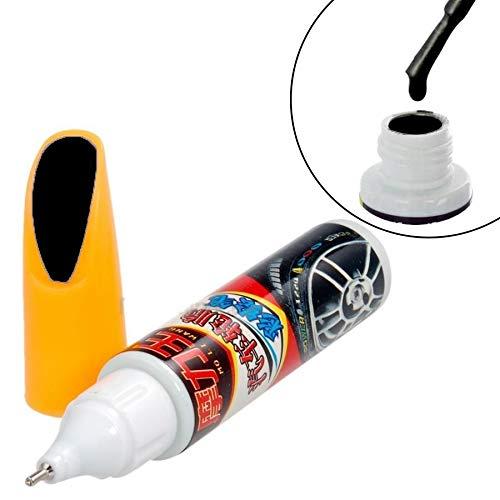 Mygoodprice - Pincel de retoque de pintura, color negro meta