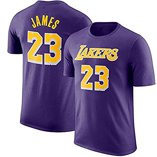 HHUPII Camiseta De La NBA Los Angeles Lakers James # 23 Logo Del Equipo Juvenil Nombre Número Kobe Bryant Camiseta De Baloncesto De Moda (Color : Purple, Size : 3XL)