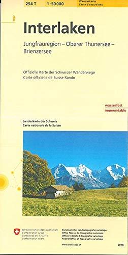 254T Interlaken Wanderkarte: Jungfrauregion - Oberer Thunersee - Brienzersee (Wanderkarten 1:50 000)