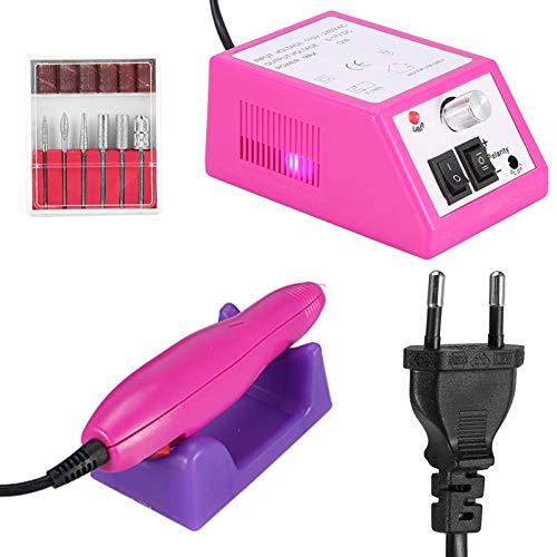 FRUJNSD Máquina De Manicura De Uñas Eléctrica Profesional, Máquina De Archivo, Kit De Taladro De Lijado De Manicura Y Pedicura, UE