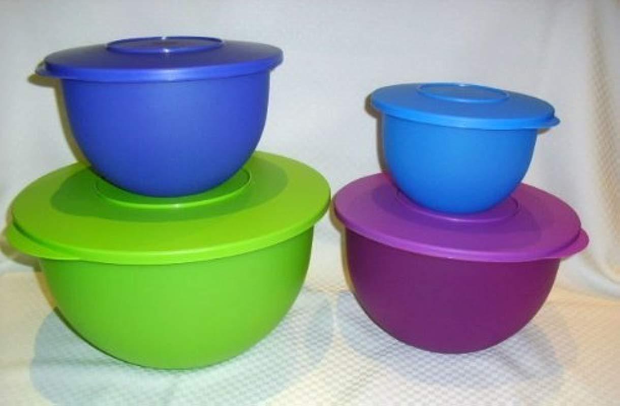 Tupperware 4 Pc Impressions Classic Mixing Bowl Set