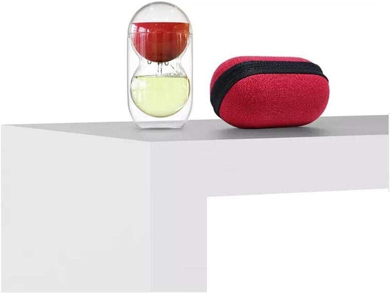 Tasse à thé, verre au borsilicate, double tasse créative de Fulu pour bureau de voyage en plein air (Couleur   rouge)