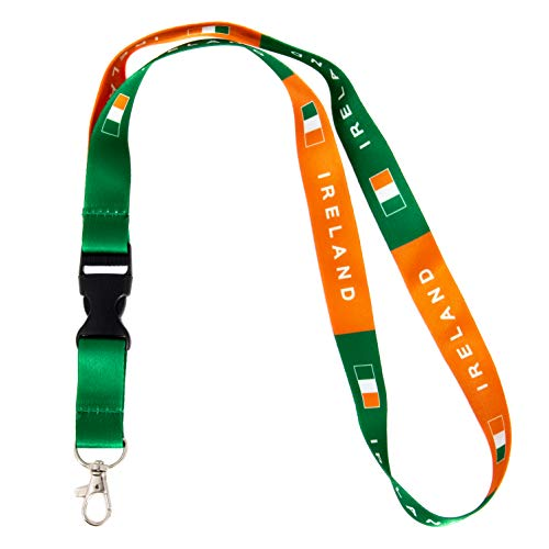 Country of Ireland Flag Car Keys ID Badge Holder Keychain Souvenir Irish (Lanyard)