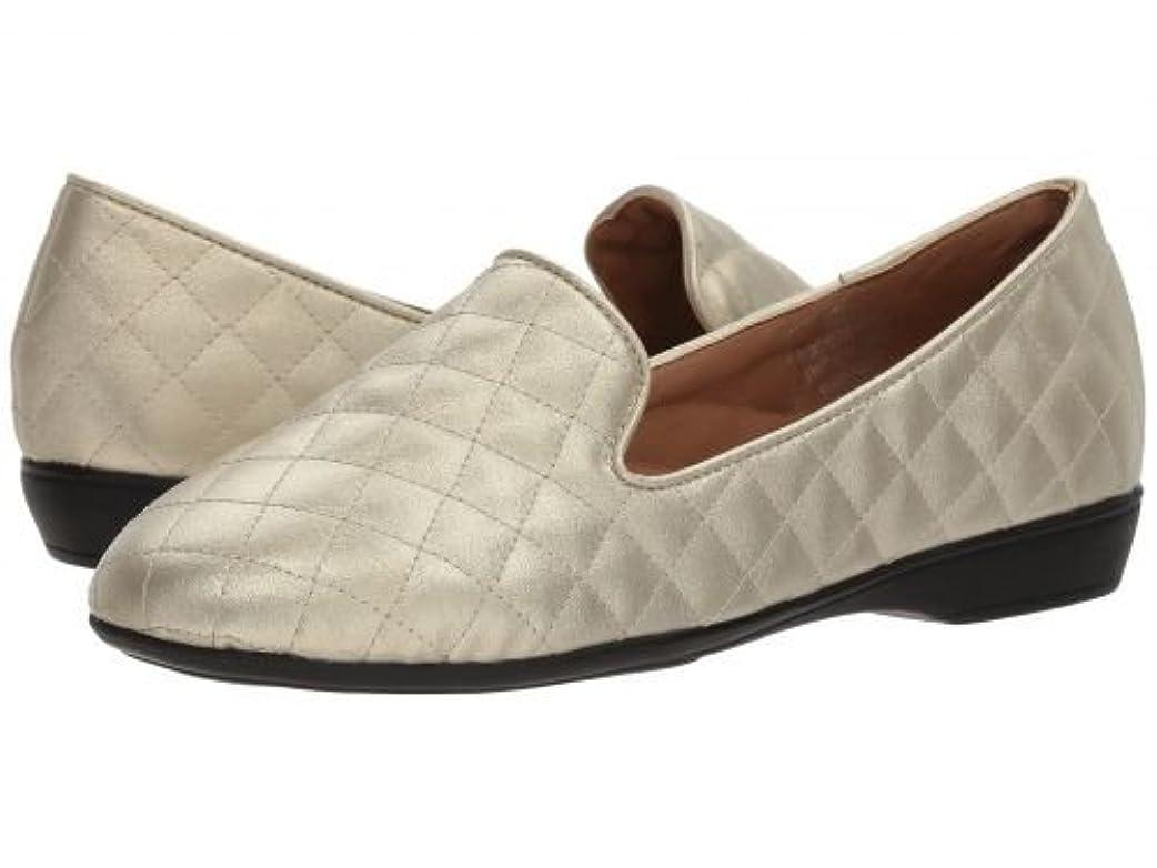 分泌する同情市区町村Larry Levine(ラリーリーヴァイン) レディース 女性用 シューズ 靴 ローファー ボートシューズ Justina - Gold [並行輸入品]